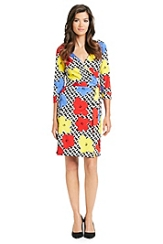 Pop Wrap Limited Edition New Julian Silk Jersey Wrap Dress