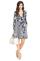 Amelia Silk Combo Wrap Dress
